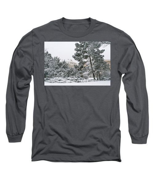 Long Sleeve T-Shirt featuring the photograph Lacy Winter In Brno by Jenny Rainbow