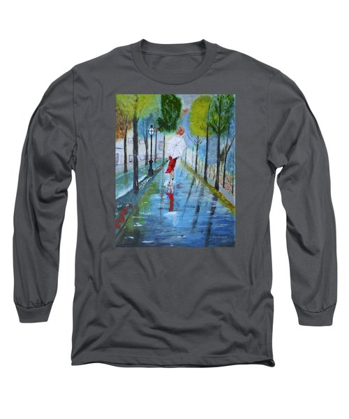 Lady In Red Original Version Long Sleeve T-Shirt
