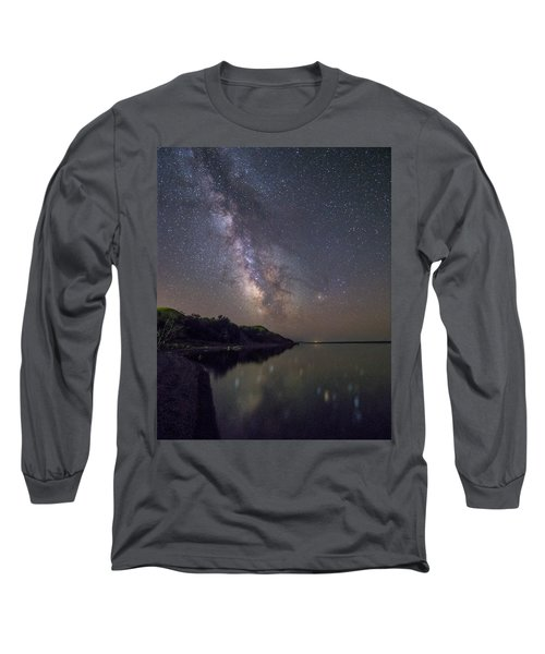 Long Sleeve T-Shirt featuring the photograph Lake Oahe  by Aaron J Groen