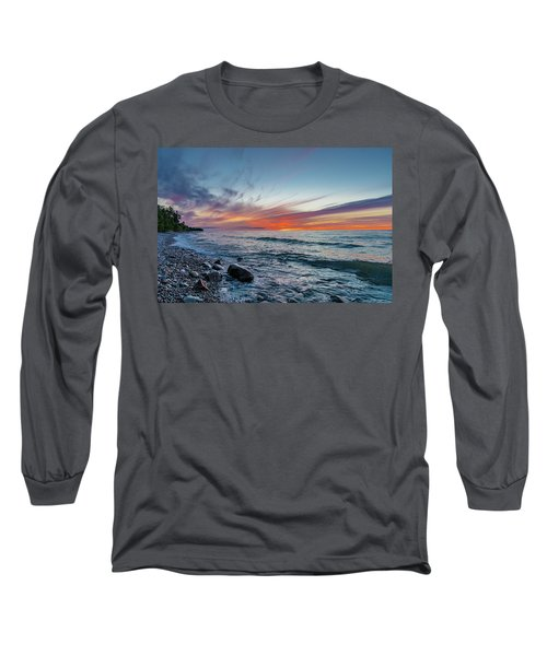 Lake Superior Sunset Long Sleeve T-Shirt