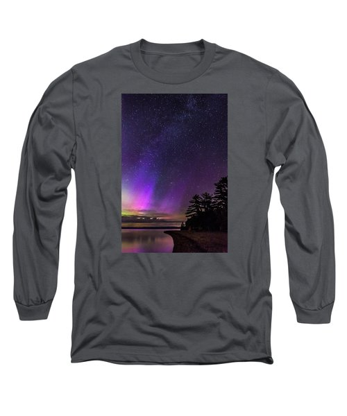 Lake Winnipesaukee Aurora Borealis Long Sleeve T-Shirt