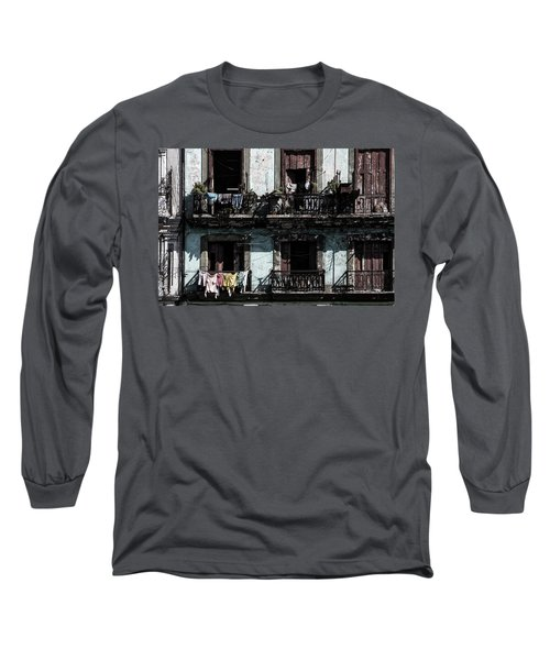 Laundry Day In Havana Long Sleeve T-Shirt