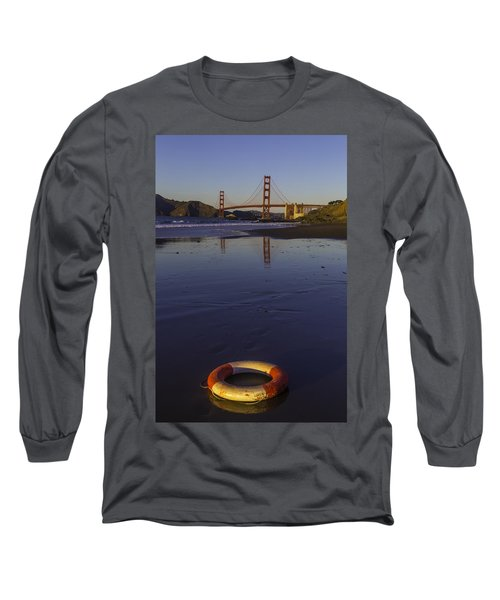 Life Ring On Beach Long Sleeve T-Shirt