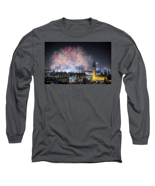 London New Year Fireworks Display Long Sleeve T-Shirt