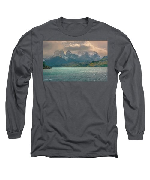 Long Sleeve T-Shirt featuring the photograph Los Cuernos  by Andrew Matwijec