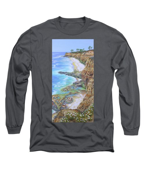 Low Tide Sunset Cliffs Long Sleeve T-Shirt by Jane Girardot