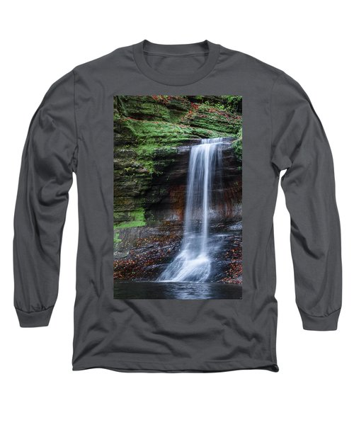 Lower Dells Falls Matthiessen State Park Oglesby Illinois Long Sleeve T-Shirt