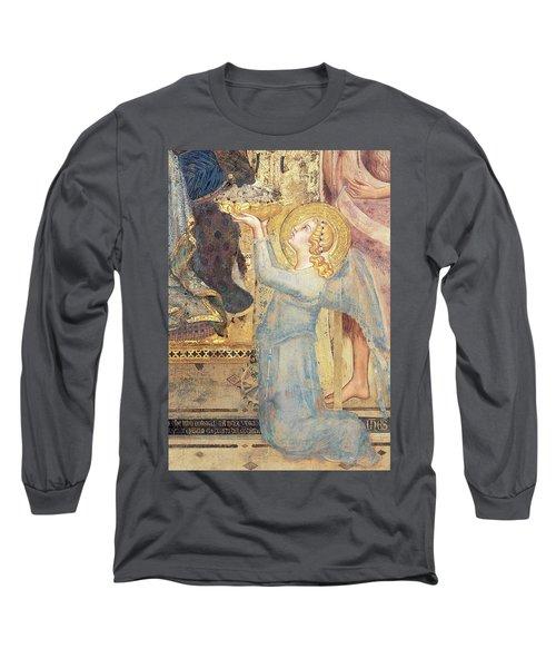 Maesta  Angel Offering Flowers To The Virgin Long Sleeve T-Shirt