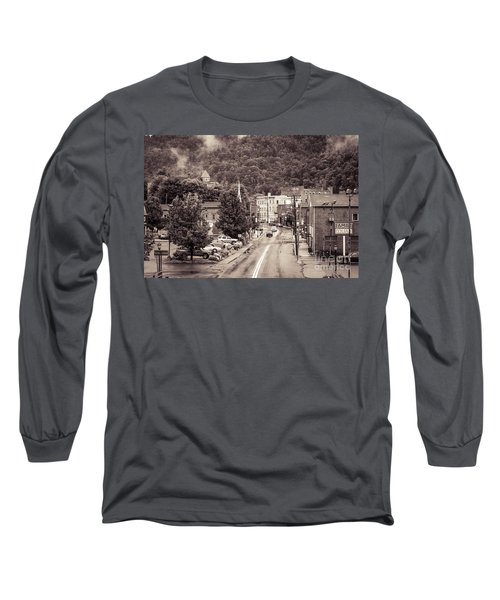 Long Sleeve T-Shirt featuring the photograph Main Street Webster Springs by Thomas R Fletcher
