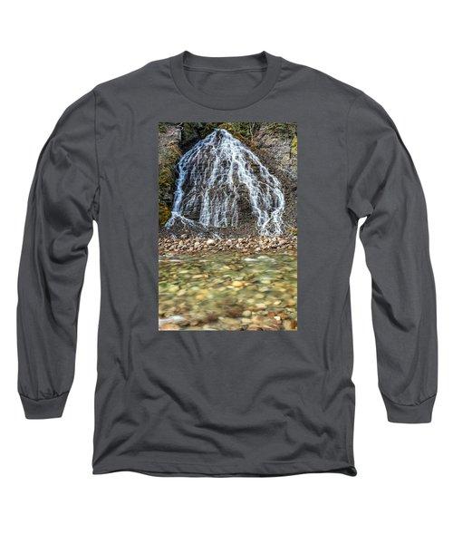 Cascades Of Maligne Canyon Long Sleeve T-Shirt
