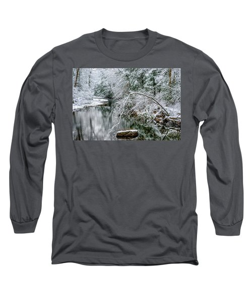Long Sleeve T-Shirt featuring the photograph March Snow Cranberry River by Thomas R Fletcher