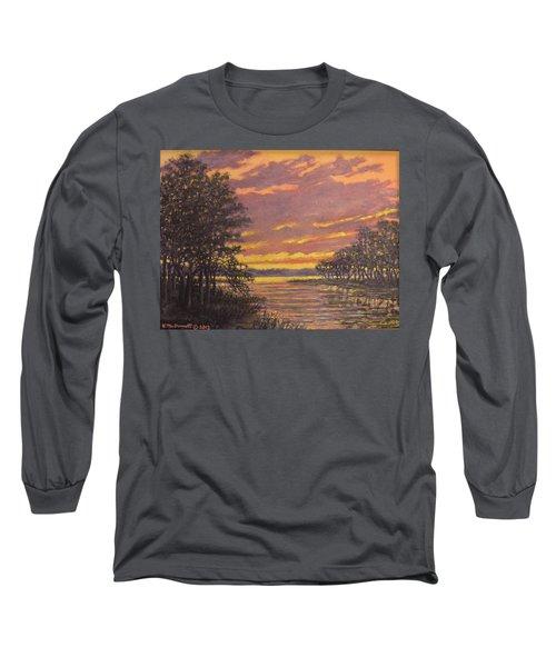 Marsh Sketch # 7 Long Sleeve T-Shirt by Kathleen McDermott