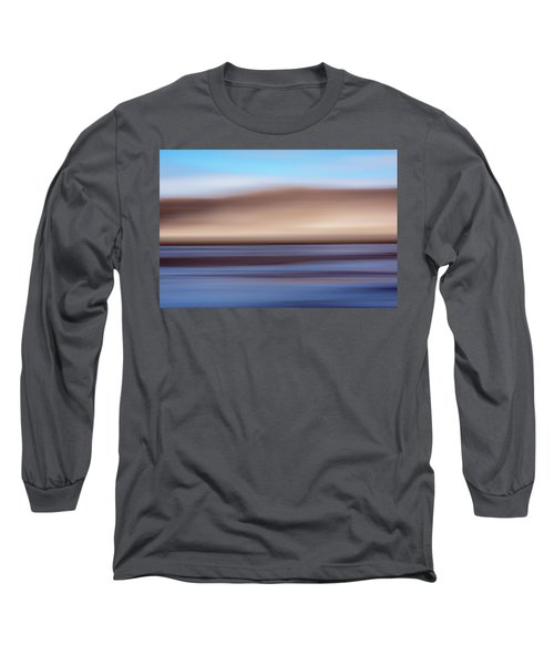 Long Sleeve T-Shirt featuring the mixed media Medano Creek Abstract by Shara Weber