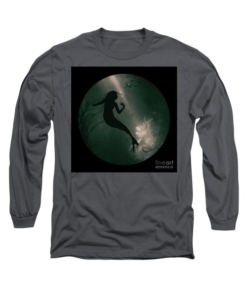 Mermaid Deep Underwater Long Sleeve T-Shirt