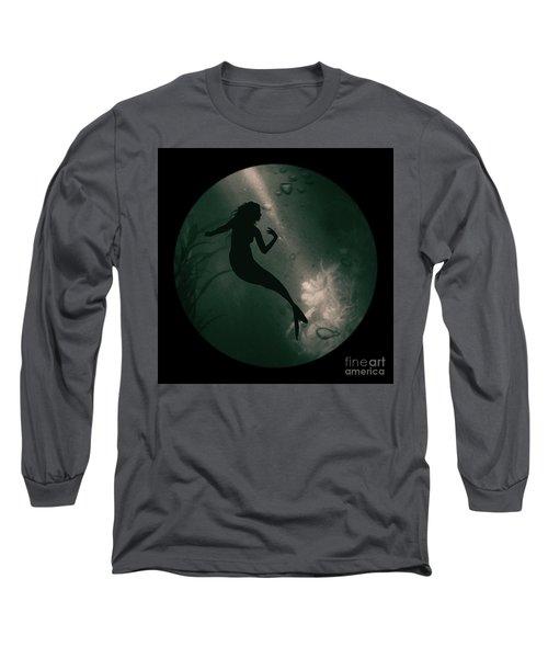 Mermaid Deep Underwater Long Sleeve T-Shirt