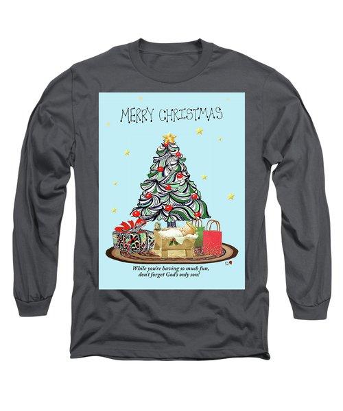 Merry Christmas Long Sleeve T-Shirt by Quwatha Valentine