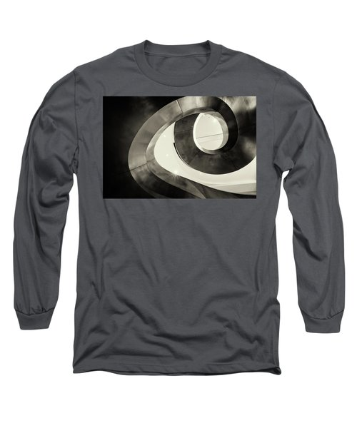 Abstract Metal Spiral Staircase Long Sleeve T-Shirt by John Williams