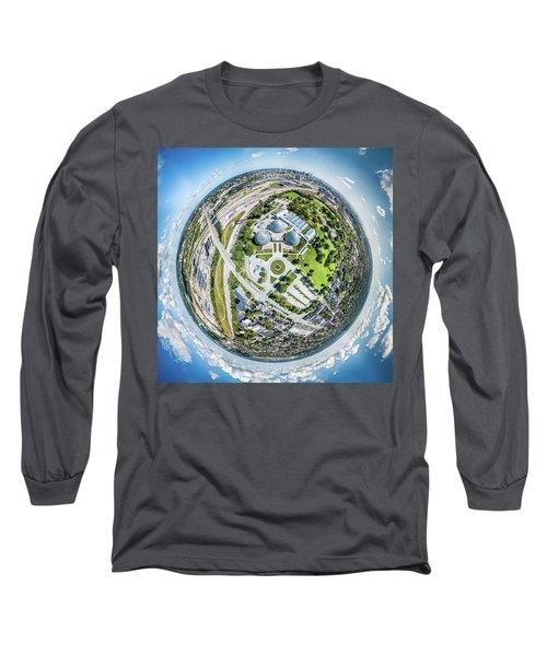Long Sleeve T-Shirt featuring the photograph Mitchell Park Domes by Randy Scherkenbach