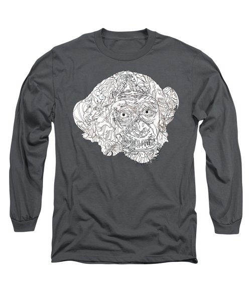 Monkey Long Sleeve T-Shirt by Jacob Hurley