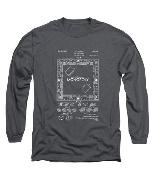 Monopoly Original Patent Art Drawing T-shirt Long Sleeve T-Shirt