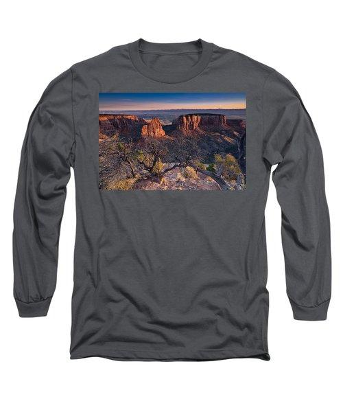 Morning At Colorado National Monument Long Sleeve T-Shirt