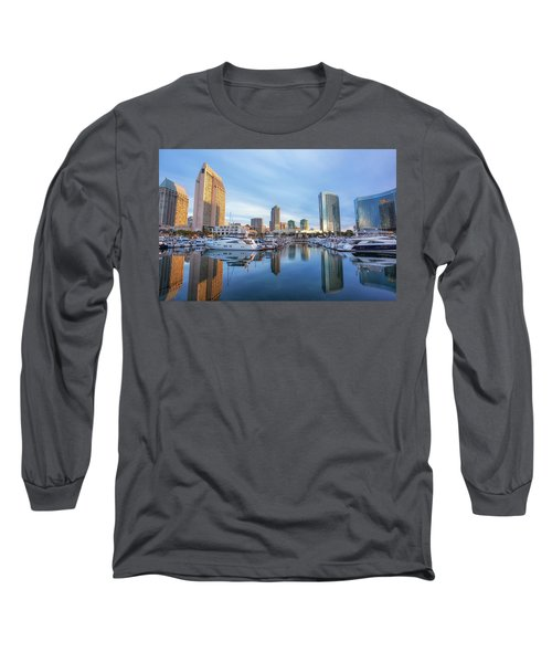 Morning Reflections Long Sleeve T-Shirt by Joseph S Giacalone