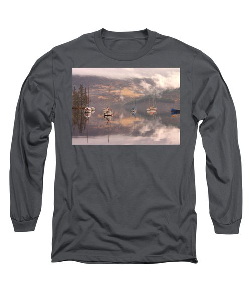 Morning Reflections Of Loch Ness Long Sleeve T-Shirt