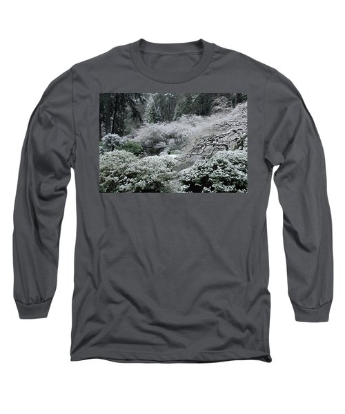 Morning Snow In The Garden Long Sleeve T-Shirt