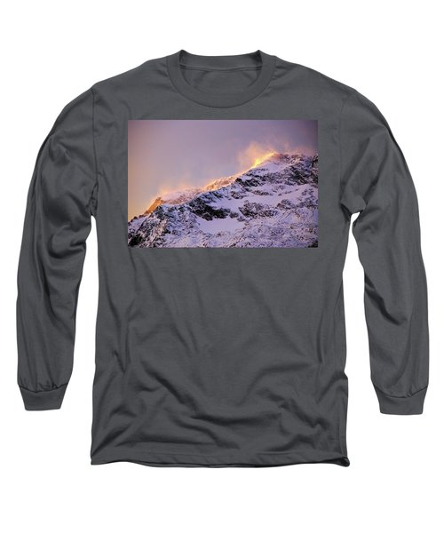 mystery mountains in North of Norway Long Sleeve T-Shirt