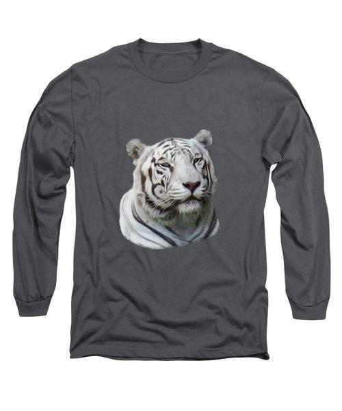 Namaste White Tiger Long Sleeve T-Shirt