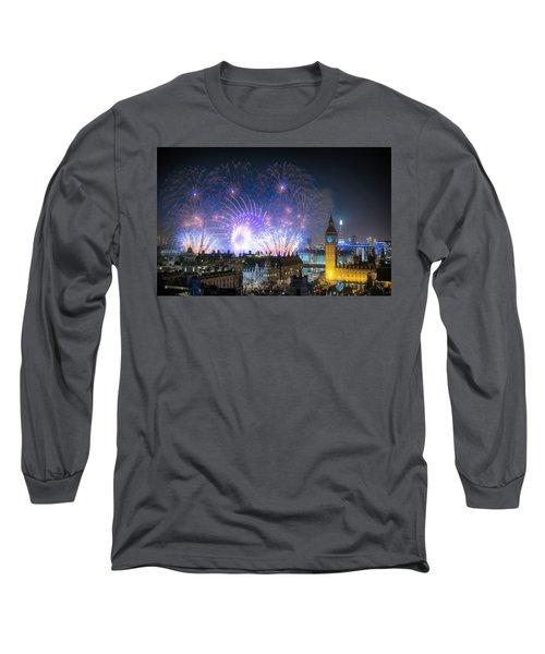New Year Fireworks Long Sleeve T-Shirt
