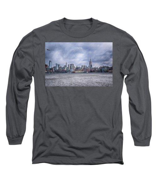 New York Skyline Long Sleeve T-Shirt by Dyle Warren