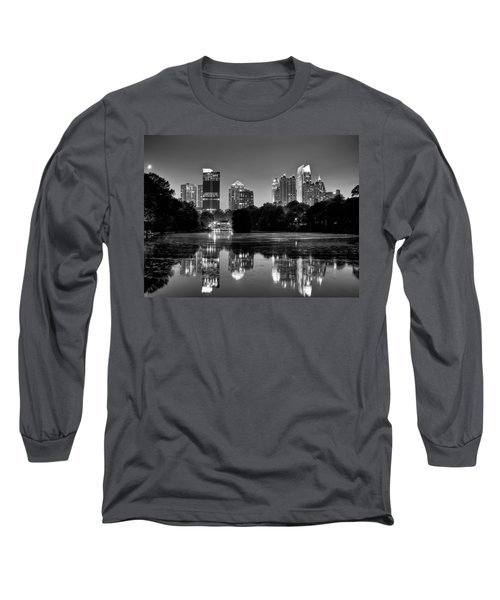 Night Atlanta.piedmont Park Lake. Long Sleeve T-Shirt