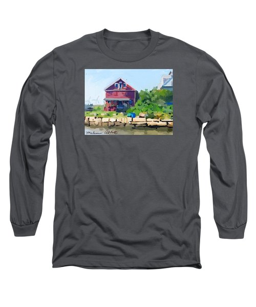 North Shore Art Association At Reed's Wharf Long Sleeve T-Shirt