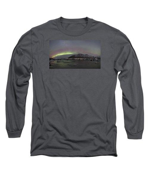 Northern Lights Panoramic Long Sleeve T-Shirt
