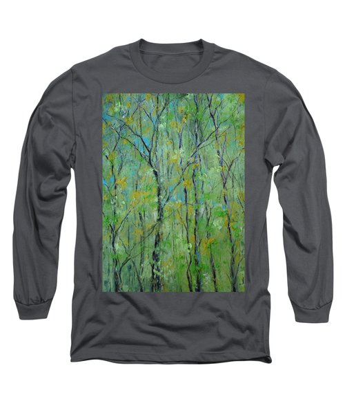 Awakening Of Spring Long Sleeve T-Shirt by Robin Miller-Bookhout