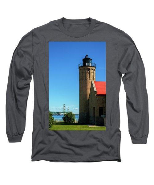 Old Mackinac Point Lighthouse Long Sleeve T-Shirt