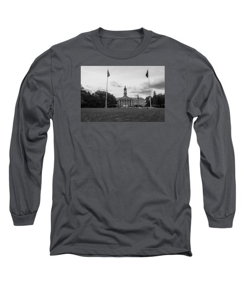 Old Main Penn State Black And White  Long Sleeve T-Shirt
