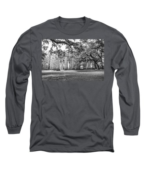 Old Sheldon Church - Tree Canopy Long Sleeve T-Shirt
