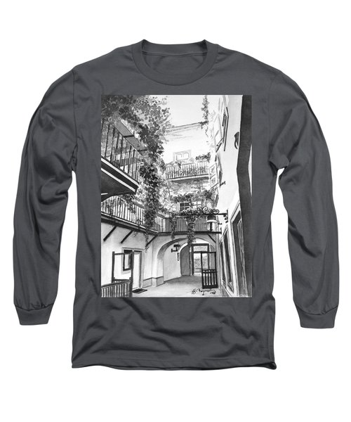 Old Viennese Courtyard Long Sleeve T-Shirt