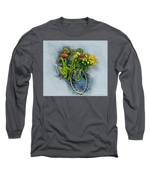 Olde Vintage Bicycle Long Sleeve T-Shirt