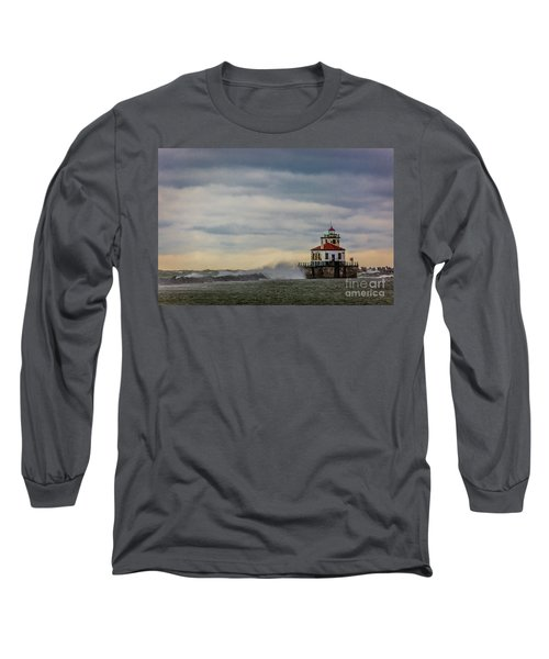 Oswego Harbor West Pierhead Light Long Sleeve T-Shirt