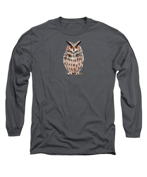 Owl Long Sleeve T-Shirt by Jean Pacheco Ravinski