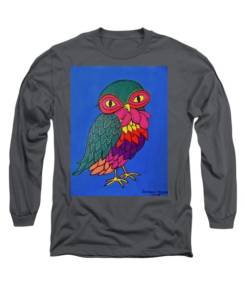 Owl Long Sleeve T-Shirt by Stephanie Moore