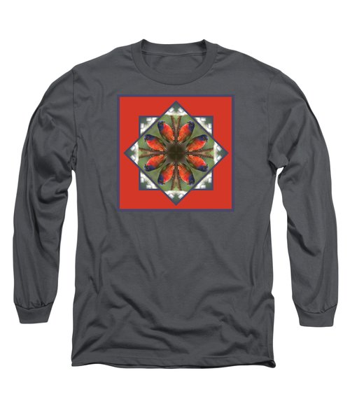 Painted Bunting Long Sleeve T-Shirt by Rhoda Gerig