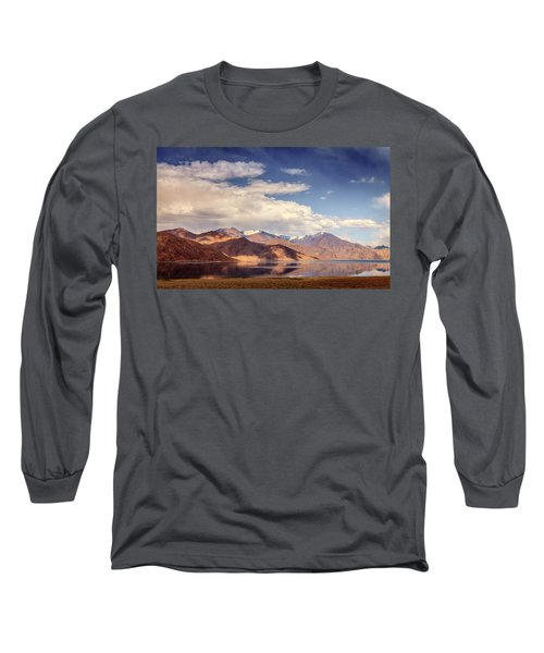 Long Sleeve T-Shirt featuring the photograph Pangong Tso Lake by Alexey Stiop