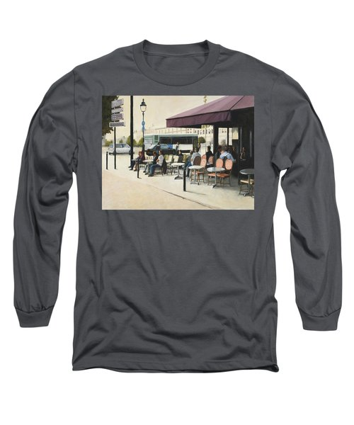 Paris Cafe Long Sleeve T-Shirt
