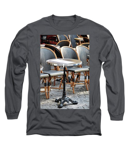 Parisian Cafe Terrace Long Sleeve T-Shirt