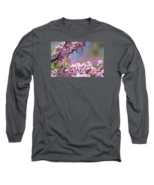 Pastel Blossoms Long Sleeve T-Shirt by Michele Wilson