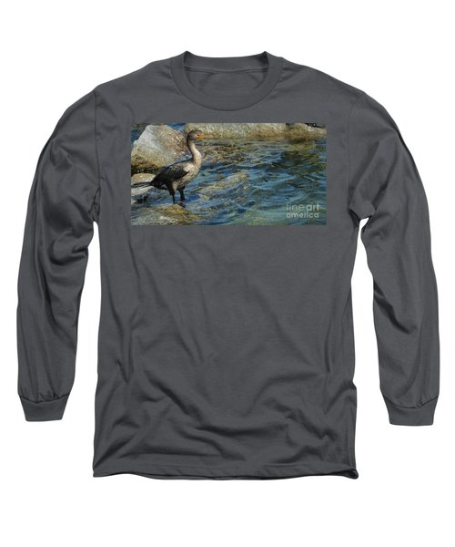 Long Sleeve T-Shirt featuring the photograph Patiently Waiting by Pamela Blizzard